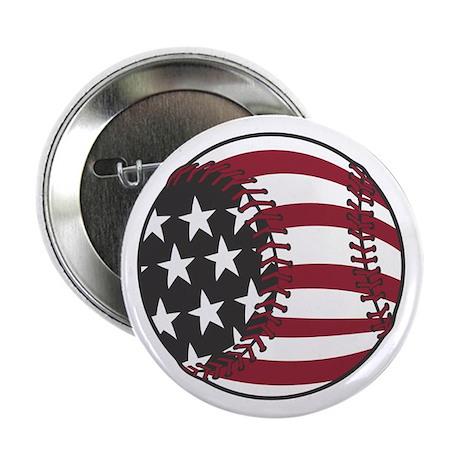 "USA Stars and Stripes Baseball 2.25"" Button (100 p"