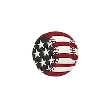 USA Stars and Stripes Baseball Mini Button