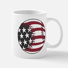 USA Stars and Stripes Baseball Mug