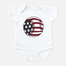 USA Stars and Stripes Baseball Infant Bodysuit