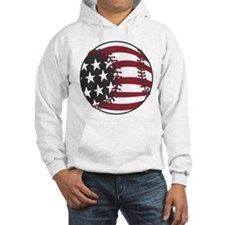 USA Stars and Stripes Baseball Hoodie