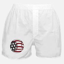 USA Stars and Stripes Baseball Boxer Shorts