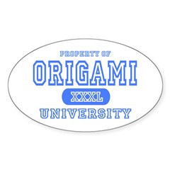 Origami University Oval Decal