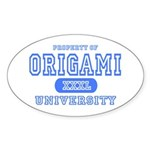 Origami University Oval Sticker