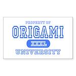 Origami University Rectangle Sticker