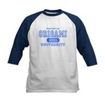 Origami University Kids Baseball Jersey