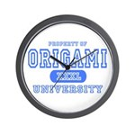 Origami University Wall Clock
