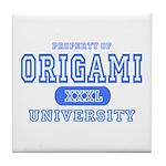 Origami University Tile Coaster