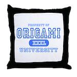 Origami University Throw Pillow