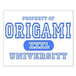 Origami University Small Poster
