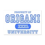 Origami University Mini Poster Print