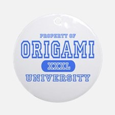 Origami University Ornament (Round)