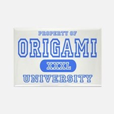 Origami University Rectangle Magnet