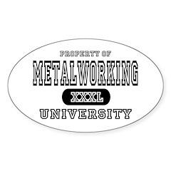 Metalworking University Oval Decal