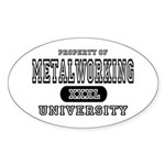 Metalworking University Oval Sticker
