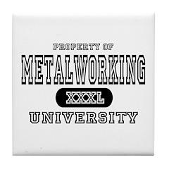 Metalworking University Tile Coaster