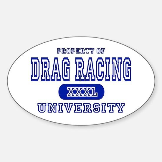 Drag Racing University Oval Decal