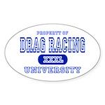 Drag Racing University Oval Sticker