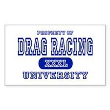 Drag Racing University Rectangle Decal