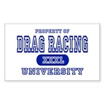 Drag Racing University Rectangle Sticker