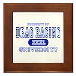 Drag Racing University Framed Tile