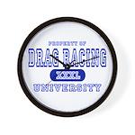 Drag Racing University Wall Clock
