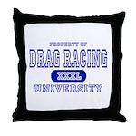 Drag Racing University Throw Pillow