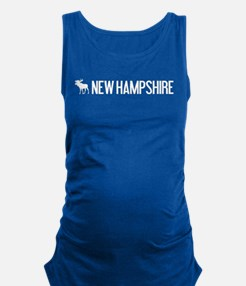 New Hampshire Moose Maternity Tank Top