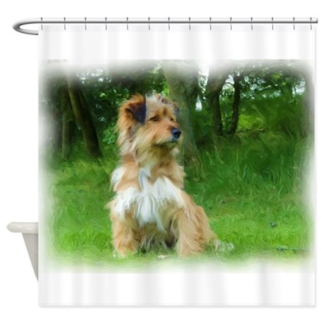 Norfolk Terrier Painting Shower Curtain