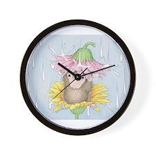 Rainy Daisy Day Wall Clock