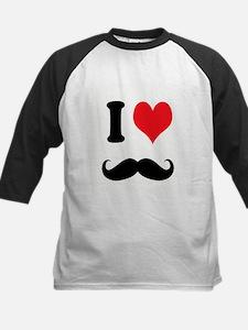I Heart Mustaches Baseball Jersey