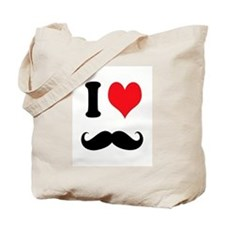 I Heart Mustaches Tote Bag