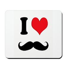 I Heart Mustaches Mousepad