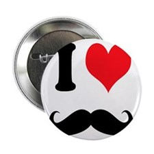 """I Heart Mustaches 2.25"""" Button"""