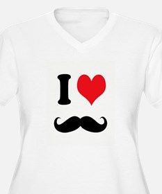 I Heart Mustaches Plus Size T-Shirt