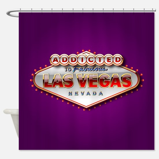 Addicted to Las Vegas Shower Curtain