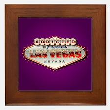 Addicted to Las Vegas Framed Tile