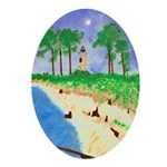 Madisonville Lighthouse Art Oval Ornament