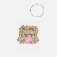 The Need for Caffeine Aluminum Photo Keychain