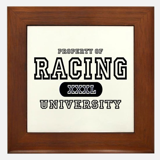 Racing University Framed Tile