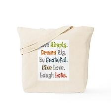 Live Simply. Tote Bag