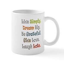 Live Simply. Mug