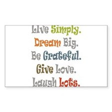 Live Simply. Decal