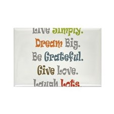 Live Simply. Rectangle Magnet