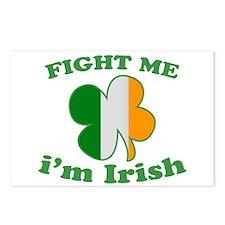 Fight Me Im Irish St Patricks Day Postcards (Packa