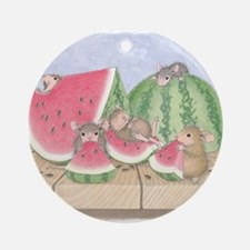 Full of Melon Ornament (Round)