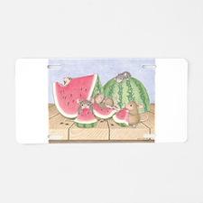 Full of Melon Aluminum License Plate