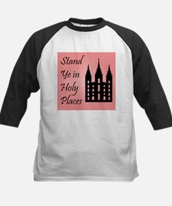 Stand Ye In Holy Places on Pink Baseball Jersey