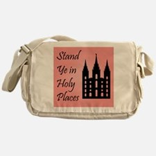 Stand Ye In Holy Places on Pink Messenger Bag
