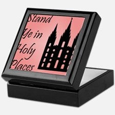 Stand Ye In Holy Places on Pink Keepsake Box